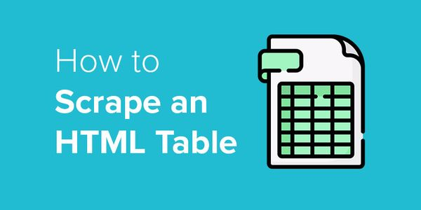 How to Scrape HTML Tables into Excel
